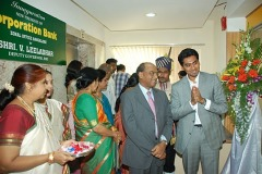 Mr.Nitesh Shetty, Founder & Chairman, Nitesh Land with Mr. V. Leeladhar, Deputy Governor, Reserve Bank of India at the inauguration of the Corporation Bank Zonal office at Nitesh Timesquare