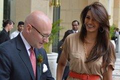 Mr. Shane Krige, former General Manager, Ms. Diana Hayden, Former  General Manager. The Ritz-Carlton, Bangalore Miss World 1997