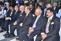 Mr. Nitesh Shetty, Founder & Chairman, Nitesh Land Limited , Mr. Shane Krige, former General Manager, The Ritz Carlton Bangalore , Mr. Peter Succouso, Managing Director - Apollo Global Real Estate Management and  L.S. Vaidyanathan Executive Director Nitesh Land Limited.