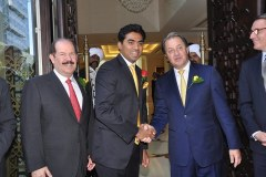 Mr. Nitesh Shetty, Founder & Chairman, Nitesh Land Limited  with Mr. Herve Humler, President & COO , The Ritz- Carlton Hotel & Company LLC. & Mr. Mr. Peter Succouso, Managing Director - Apollo Global Real Estate Management